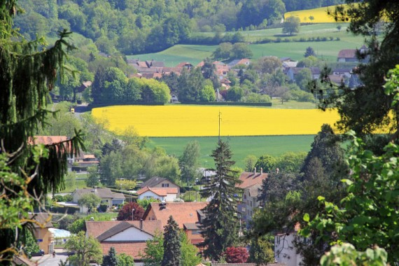 Spring Views from Lucens in Switzerland