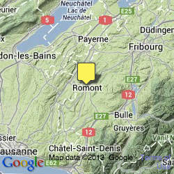Google Map Romont Switzerland