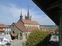 Gothic Church in Romont, Switzerland