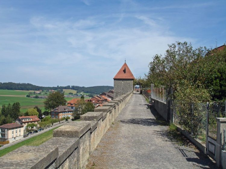 Ramparts of Romont in Switzerland