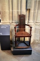 John Calvin Chair in the St Pierre Cathedral in Geneva