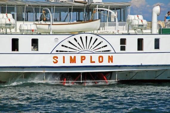 CGN's Simplon Paddle Steamer on Lake Geneva