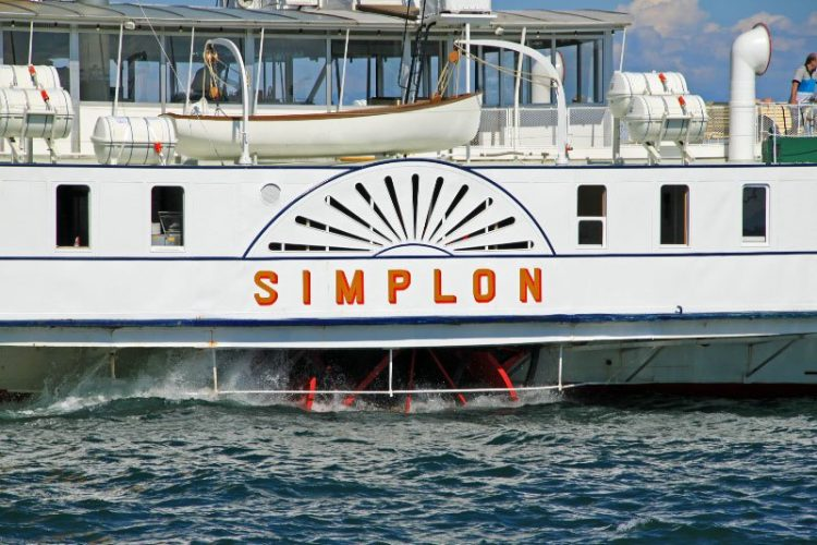 CGN's Simplon Paddle Steamer on Lake Geneva