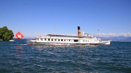 CGN Pleasure Boat Cruising on Lake Geneva