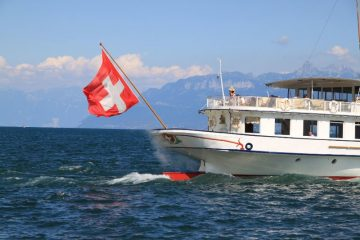CGN Pleasure Boat Cruising on Lake Geneva