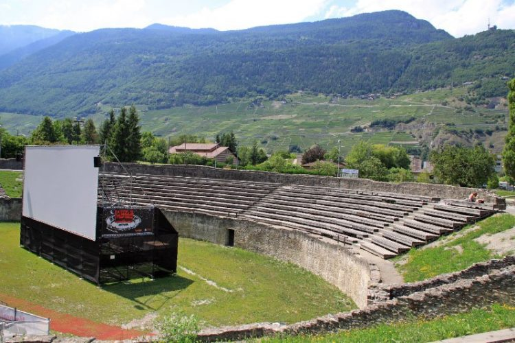Roman Amphitheater in Martigny, Switzerland