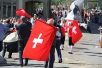 Photos from the Désalpe des Quinquas Parade in Fribourg, Switzerland