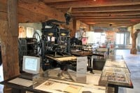 Printing Equipment in the Gutenberg Museum in Fribourg