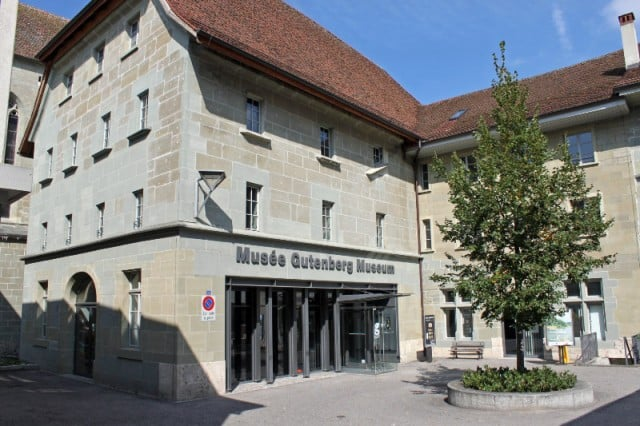 Gutenberg Museum in Fribourg, Switzerland