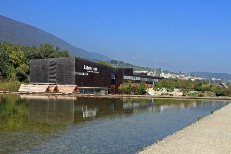 The modern Laténium Museum in Hauterive in Neuchâtel.