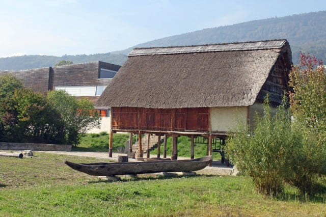 Pre-Historic House in the Park at the Laténium