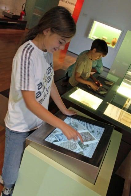 Interactive Displays in the Laténium in Neuchatel