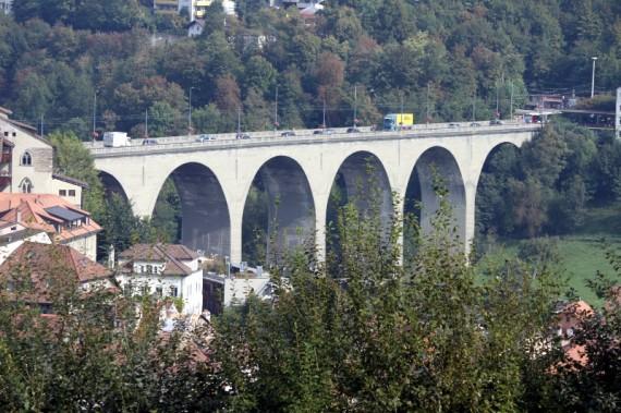 Zaehringen Bridge in Fribourg