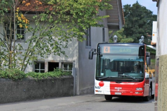 Bus 4 in Fribourg