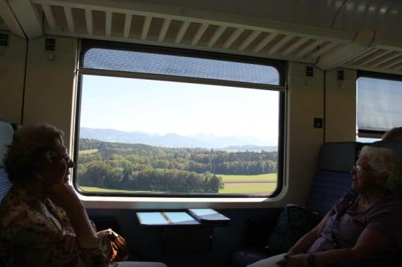Train Ride to Fribourg in Switzerland