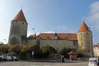 Château d'Yverdon Castle on Lake Neuchâtel
