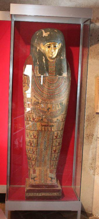 Egyptian Sarcophagus in the Château d'Yverdon Castle Museum