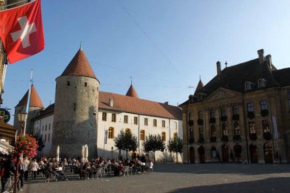Visit the Château d'Yverdon Castle and Museum on Lake Neuchâtel