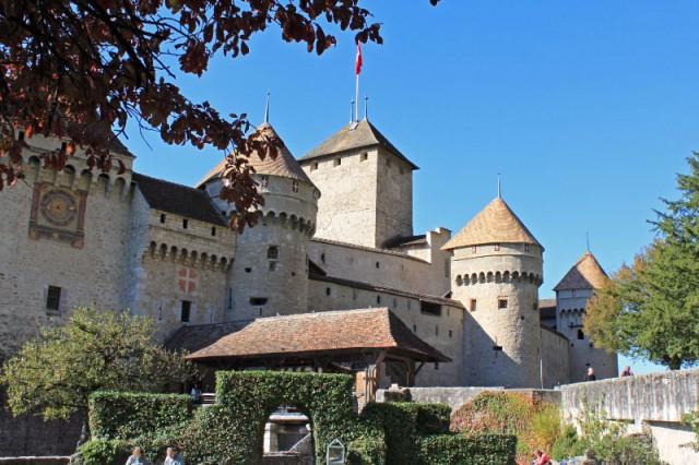 Chateau de Chillon near Montreux on Lake Geneva