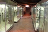 Display Cabinets in the Local History Museum in Chateau de Grandson Castle