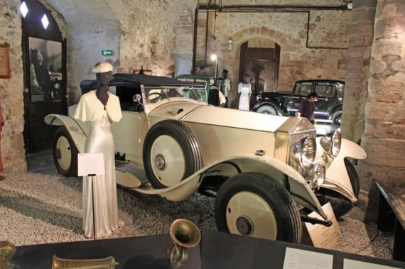 White 1927 Rolls Royce in Chateau de Grandson Castle