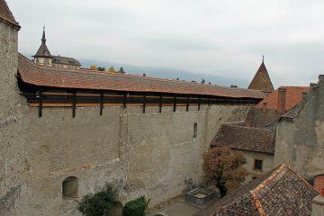 Sentries Walk at Chateau de Grandson Castle