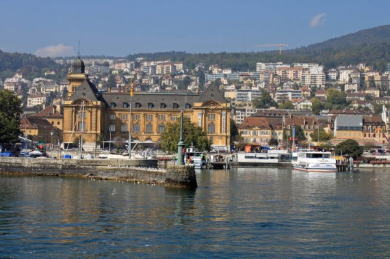 Neuchatel Harbor in Switzerland