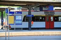 Regional train in Gare de Neuschâtel in Switzerland