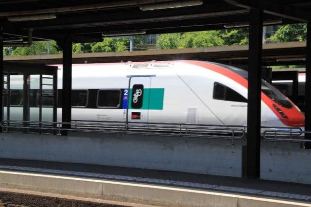 Inter-City Train in Neuchatel Station
