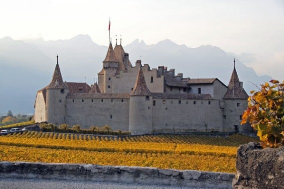 Beautiful Château d'Aigle Castle in Switzerland