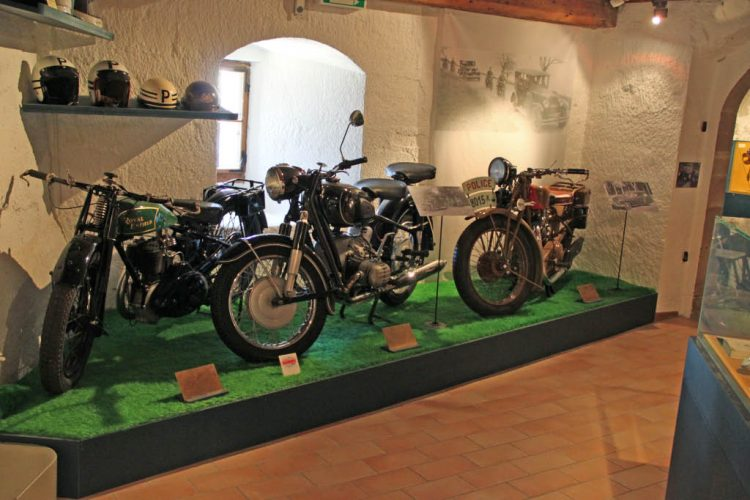 Patrol Motorcycles in Château de Morges Castle