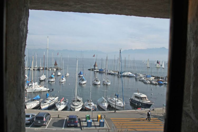 Yacht Harbor Viewed from Château de Morges Castle