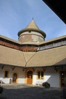 Round Keep of Chateau de Morges Castle in Switzerland