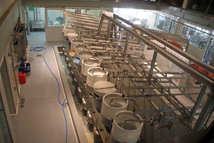 Gruyère Cheese Factory in Switzerland