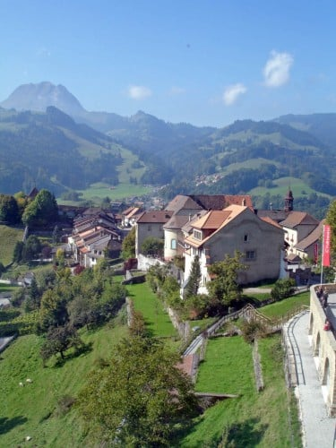 Romantic Gruyères Seen from the Castle, Switzerland