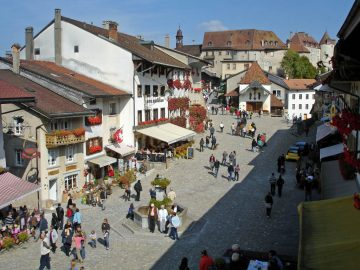 Gruyères Market in Switzerland