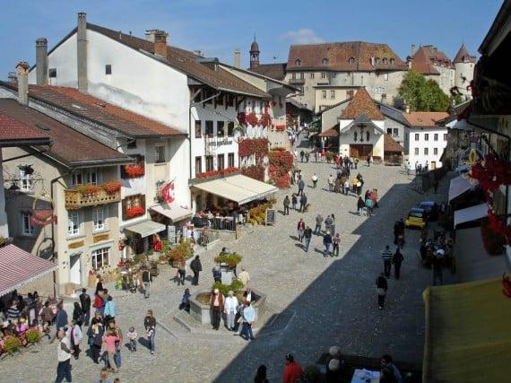 Gruyères Market in Switzerland