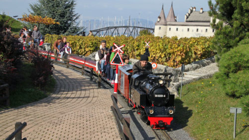 Miniature Steam Train in the Swiss Vapeur Parc