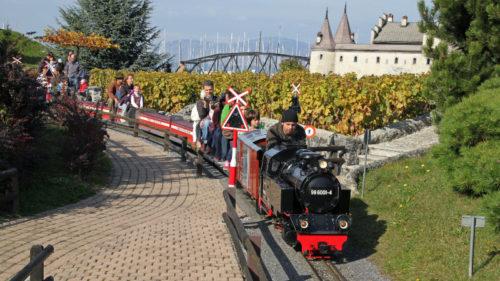 Ride Miniature Trains at the Swiss Vapeur Parc in Le Bouveret