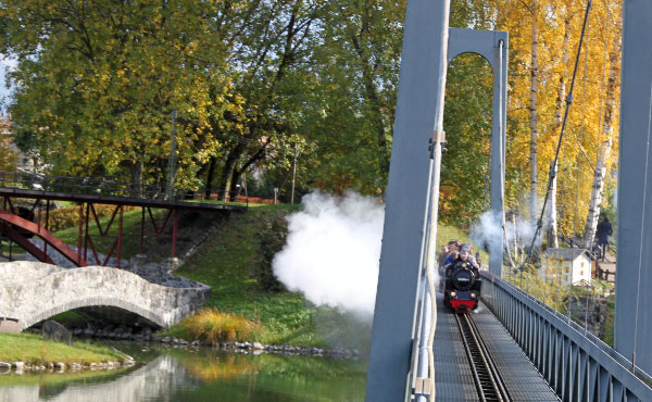 Steam Engine in the Swiss Vapeur Parc