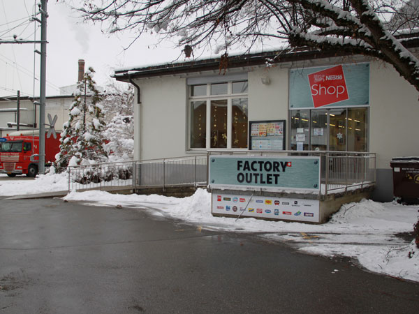 Nestlé Factory Outlet Shop in Broc, Switzerland