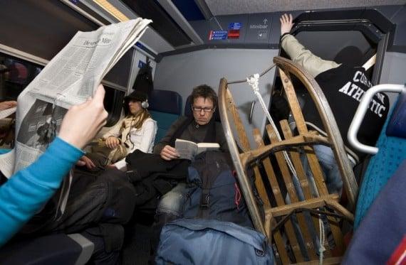 Travelers en route to Ski Resorts