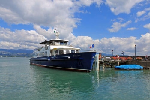 Morges Passenger Ferry Boat in Yvoire, France