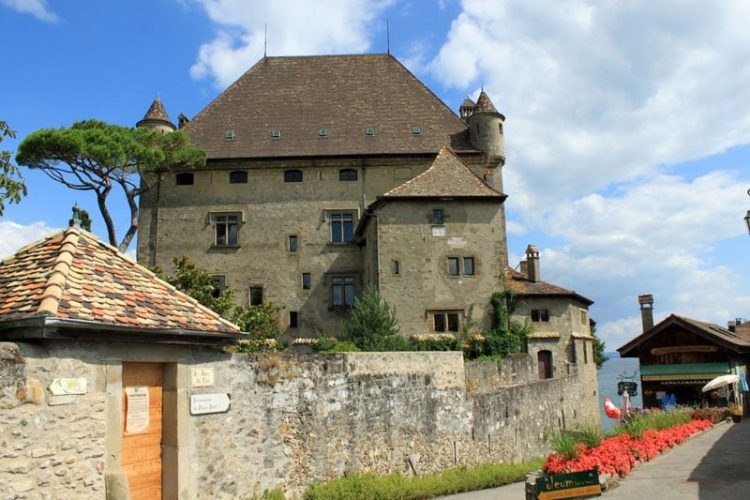Chateau d'Yvoire on Lake Geneva, France