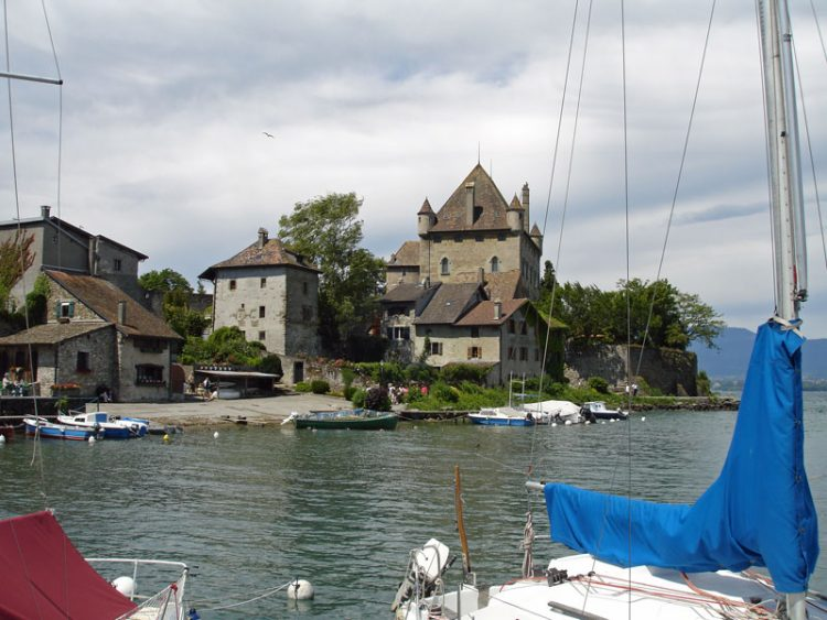 Yvoire Castle Seen from the Fishing Boat Port