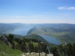 Lac De Joux and Lac Brenet, Vallée De Joux, Vaud, Switzerland. Picture taken by User:Crox from La Dent De Vaulion on 2004-05-29 at 13:59