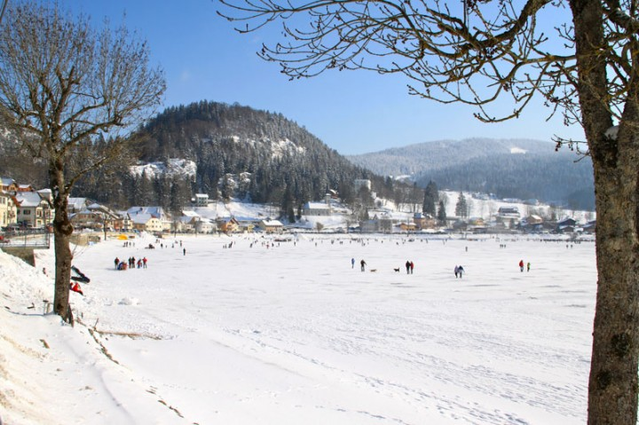 Enjoy Free Ice Skating On The Lac De Joux In Jura Mountains