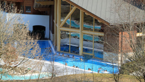 Enjoy Hot Spring Baths in Val d'Illiez in the Alps near Lac Léman in Switzerland