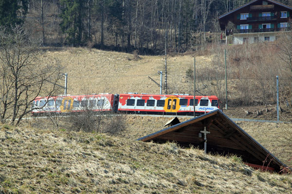 Train the Illiez Valley in Switzerland