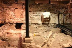 Monks Cells in the Archaeological Site St Pierre in Geneva